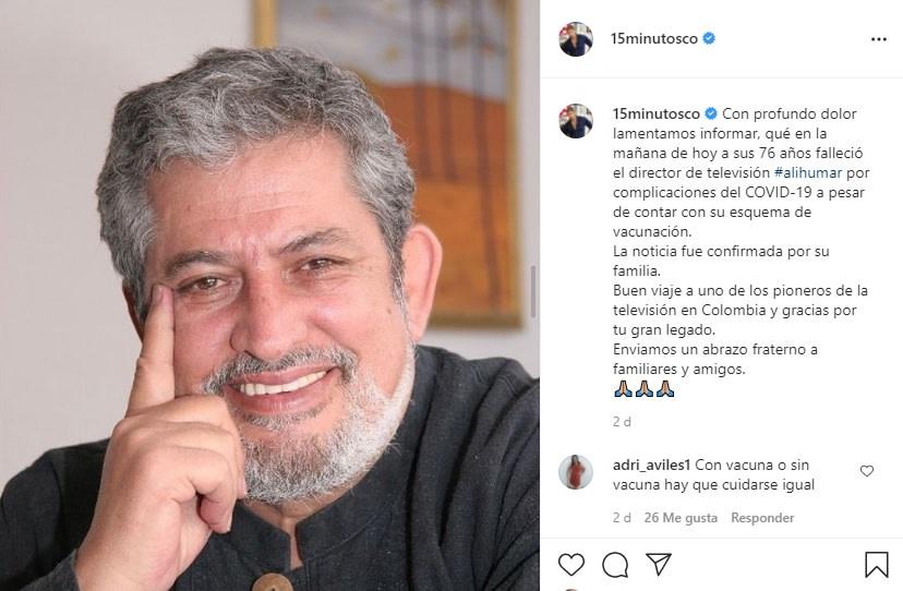 Le desean buen viaje al actor de Telemundo