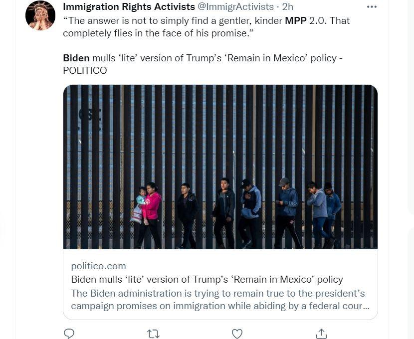 Joe Biden Permanecer México: Quieren reestablecer la política de Trump
