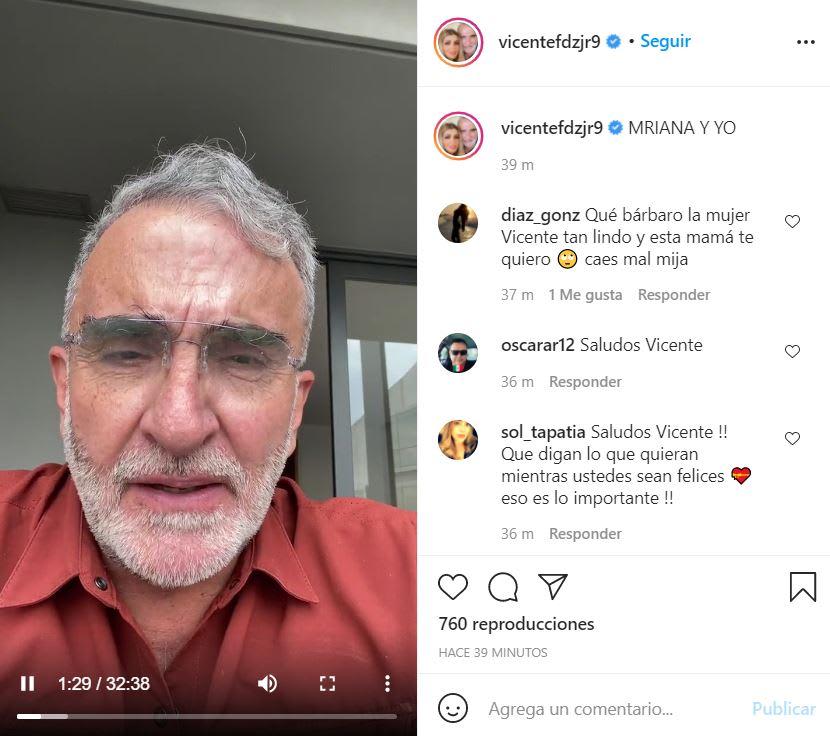 Hijo Vicente Fernández declaraciones: Agradece a sus seguidores