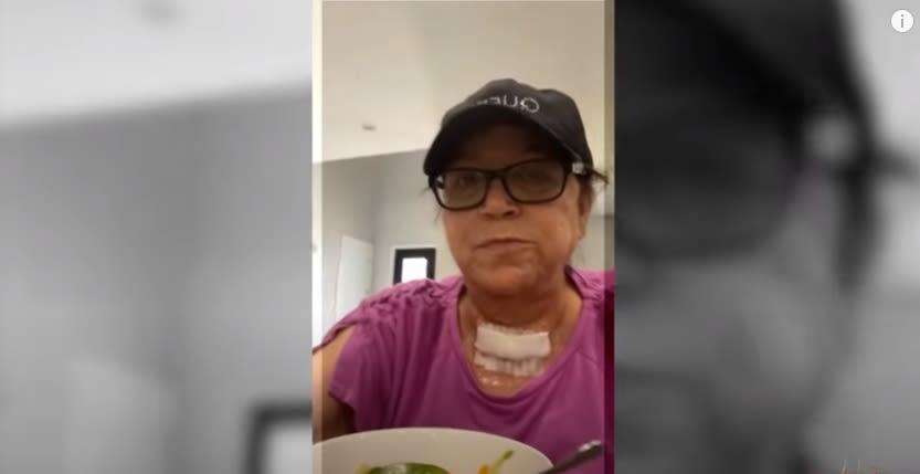 Señora Rosa se somete a una intervención quirúrgica y le extraen una pelotita