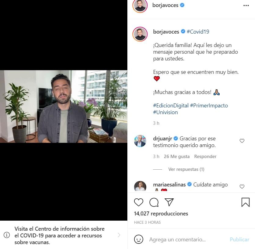 Borja Voces confirma coronavirus: Explica su ausencia en el programa