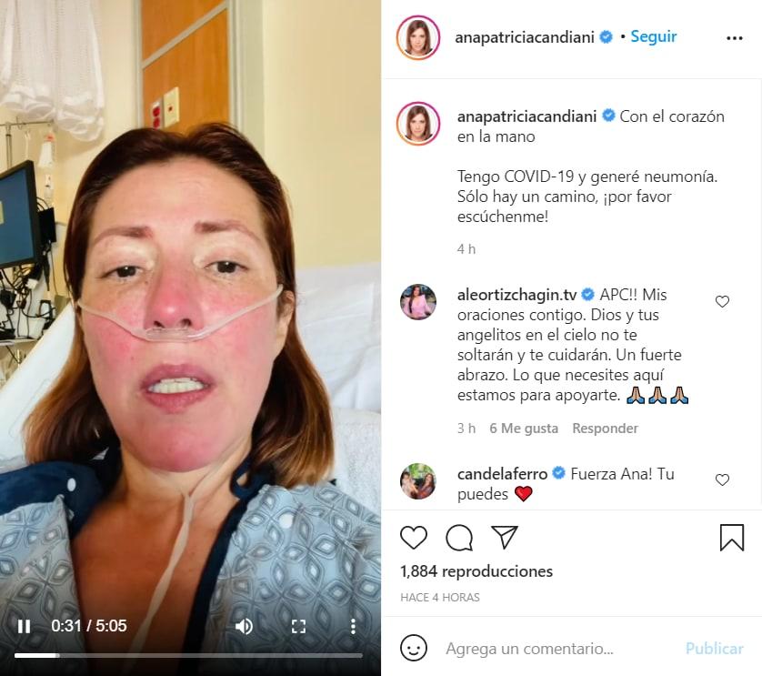 Ana Patricia Candiani hospitalizada: El mensaje que envía