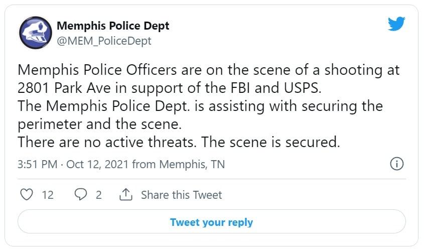 Reportan disparos en oficina de correos en Memphis