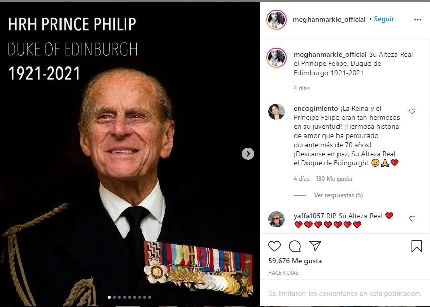duquesa de Sussex Meghan Markle funeral Felipe 5 duque Edimburgo