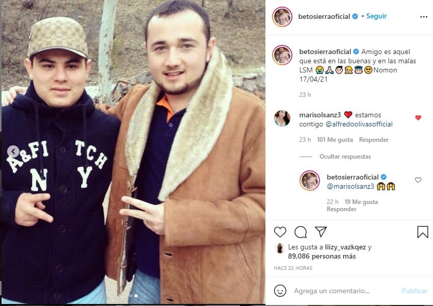 Alfredo Olivas reaparece Beto Sierra 3