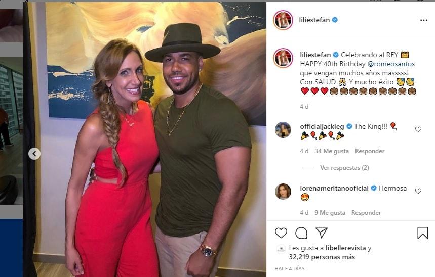 Le dicen a Lili Estefan que es una afortunada por aparecer junto a Romeo Santos