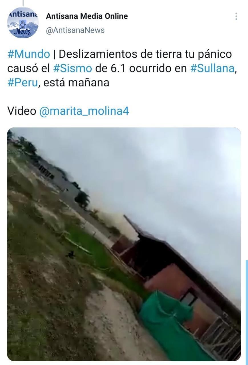 Videos del desastre tras sismo en costa de Perú