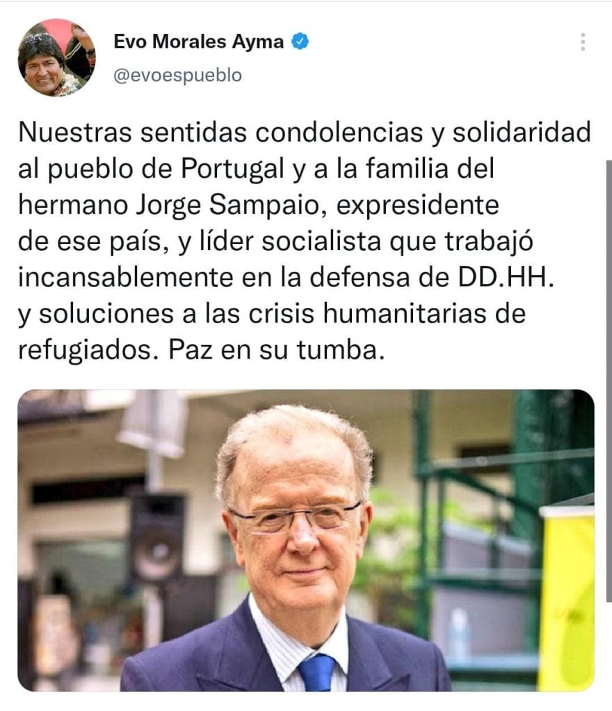 Muere el expresidente de Portugal y declaran duelo nacional