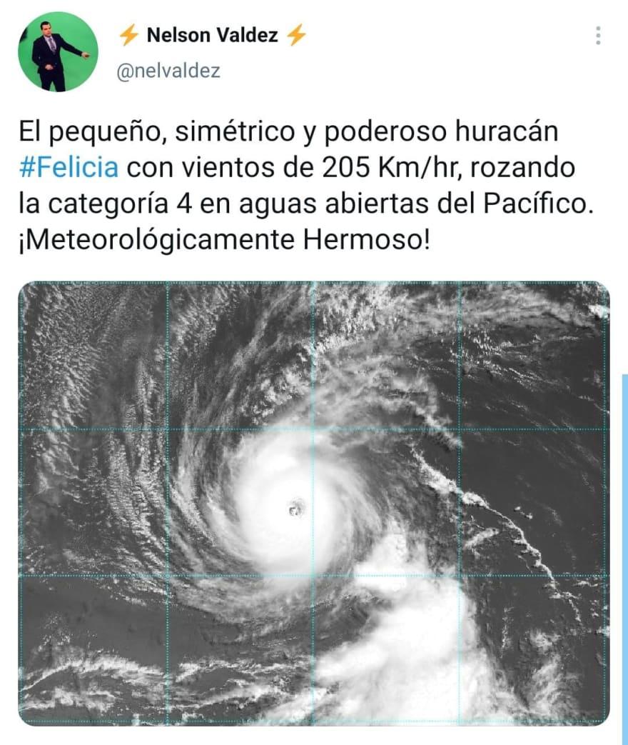 ¿Dónde surgió el huracán Felicia?