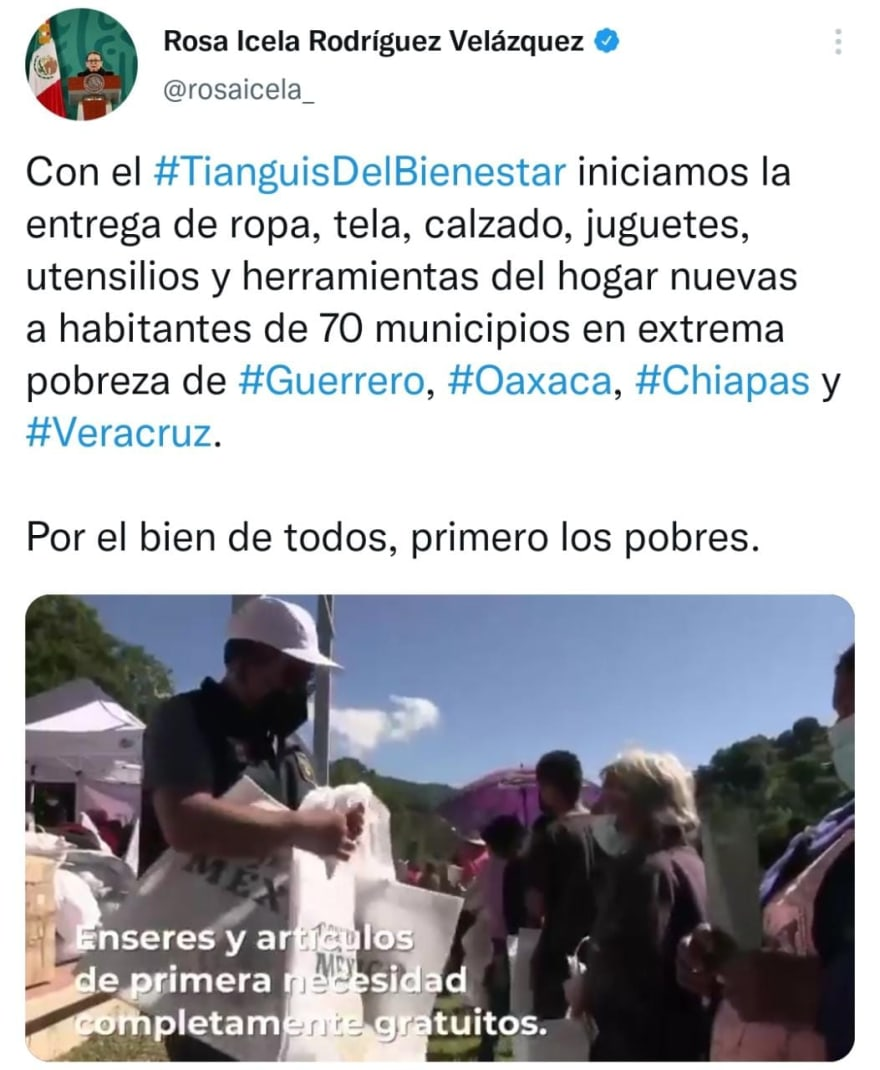 Thousands of beneficiaries with the Tianguis de AMLO