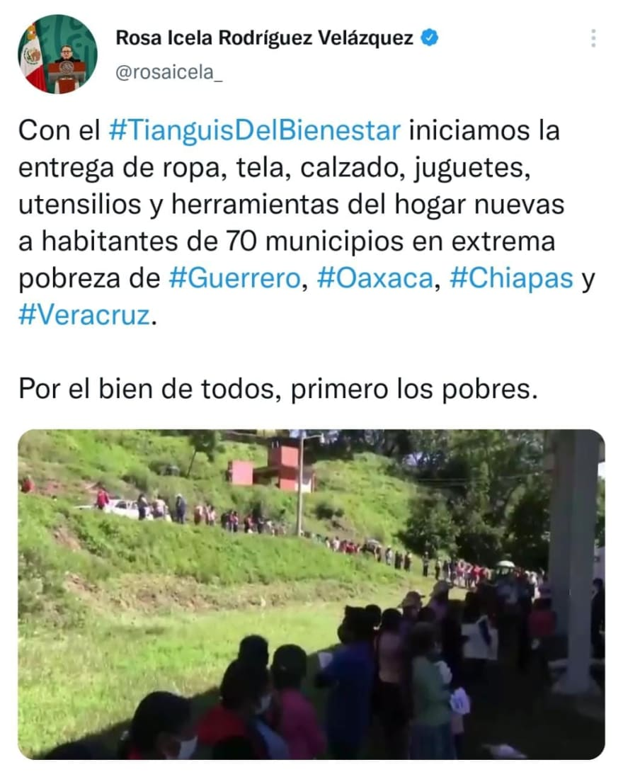 Tianguis del Bienestar will give away what was confiscated according to AMLO