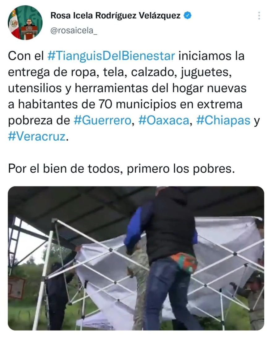 Who is in charge of the AMLO Tianguis?