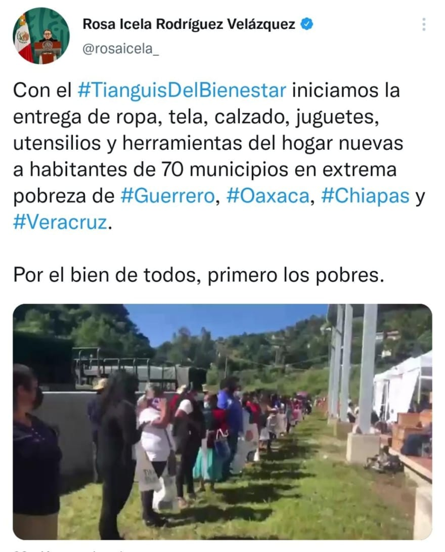 Tianguis is created by order of AMLO to help the poor