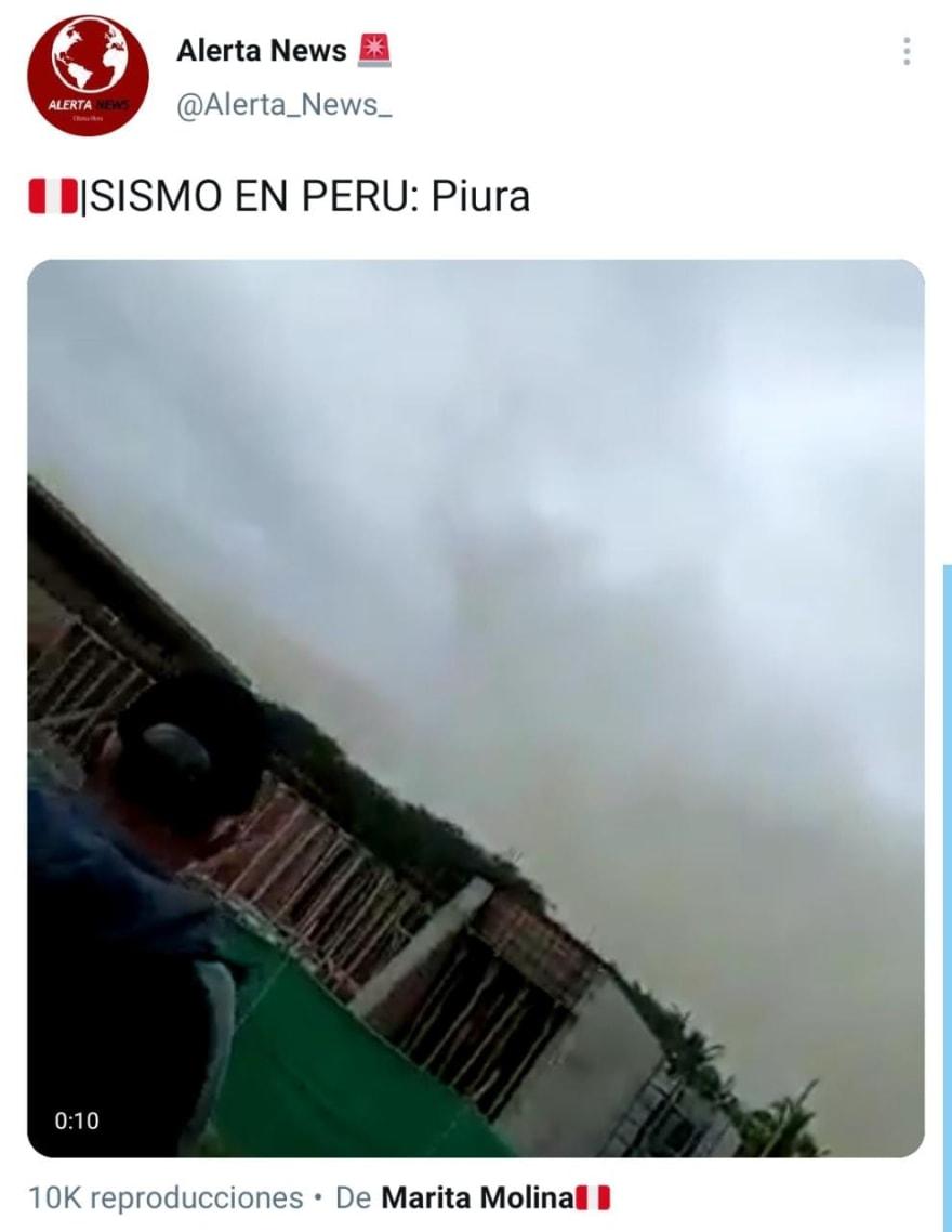 El pánico se apoderó de Perú