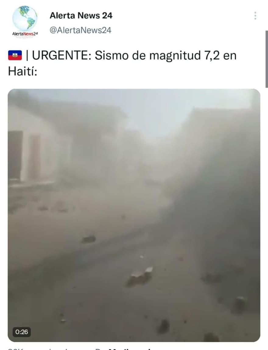 The terror of the earthquake reported in Haiti
