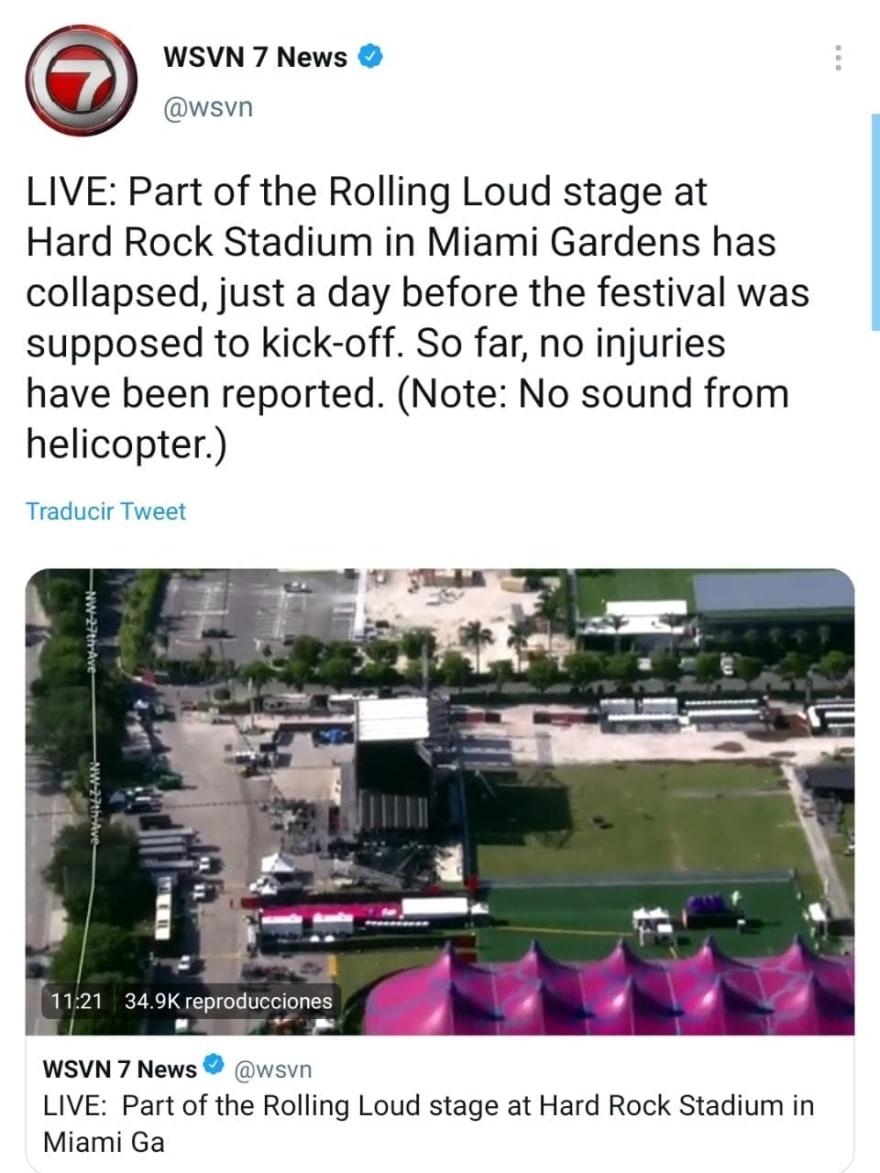Video captured the disaster at Miami's Hard Rock Stadium