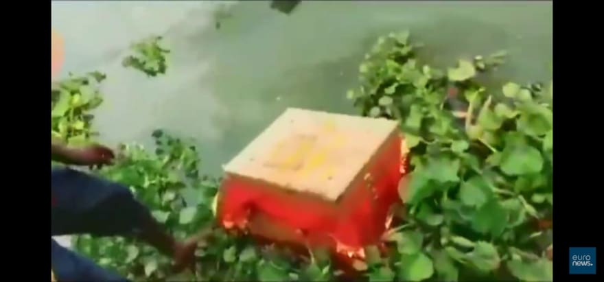 Find a baby in a box floating on the Ganges River