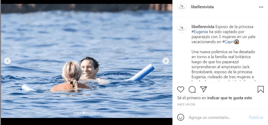 """Princesa Eugenia polémicas fotografías: No piensen mal, él se encontraba """"trabajando"""""""