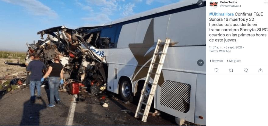 Accidente sonora muertos: El trabajo de rescateMarco Antonio Solís