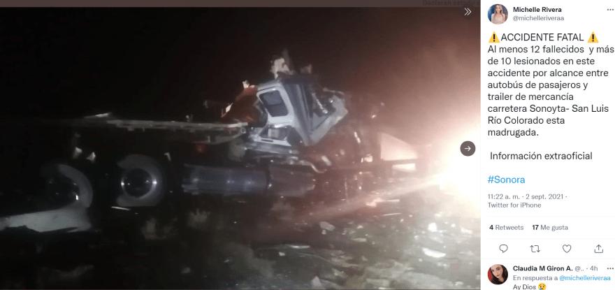 Accidente sonora muertos: La declaración del Secretario de Salud Marco Antonio Solís