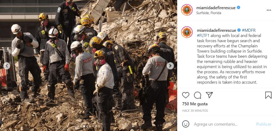 cifra muertos derrumbe miami: Sólo 35 cuerpos han sido identificados
