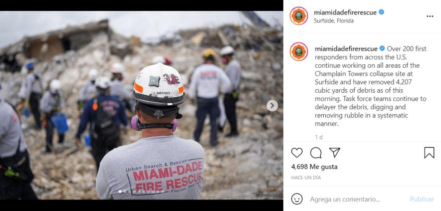 Suspenden búsqueda edificio Miami: Las palabras que ofreció el subjefe de bomberos