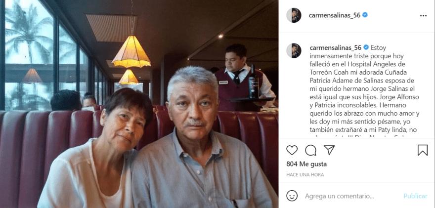 Carmen Salinas nuevamente luto: El comunicado que dio la actriz