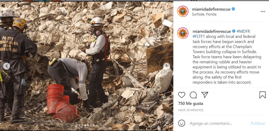 La demolición del edificio dio un giro a la búsqueda