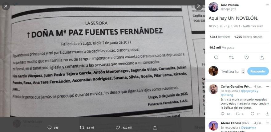 María Paz Fuentes Fernández her request goes viral