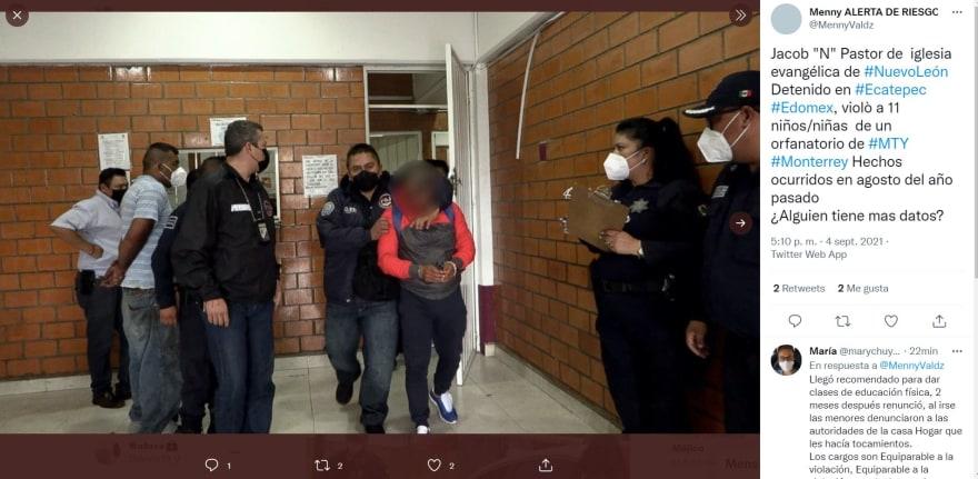 "Detienen Pastor evangélico México: La captura de Jacob ""N"""