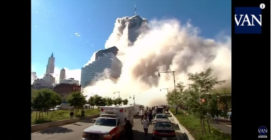 Hell building before falling Twin Towers: One hell