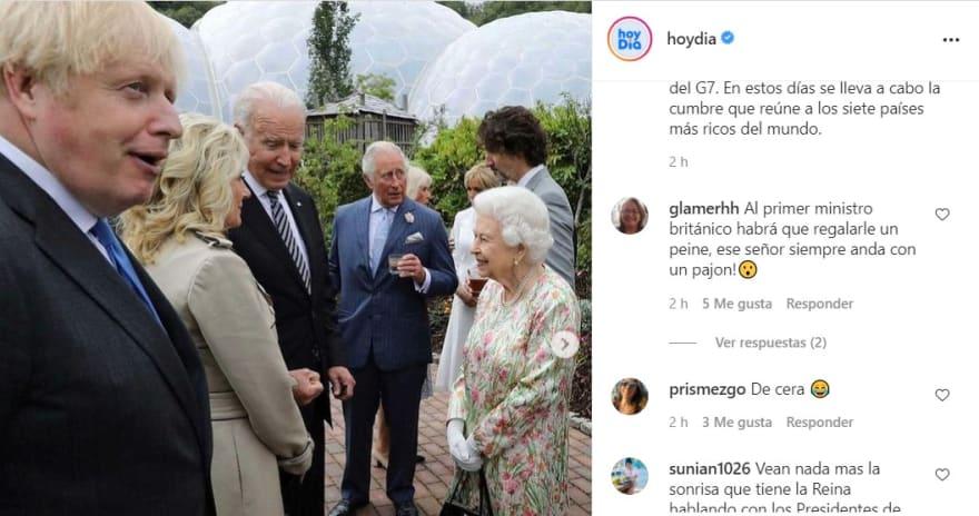 A diferencia de cuando conoció a Trump, Reina Isabel causa impacto con su reacción al encontrarse con Jill y Joe Biden