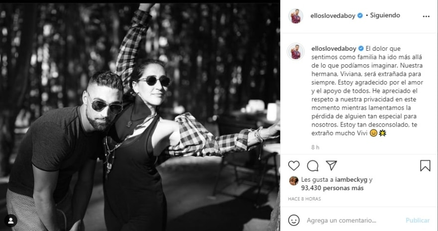 "Sister Sebastian Lletget boyfriend Becky G dies: ""I'm so heartbroken, I miss you so much Vivi"""