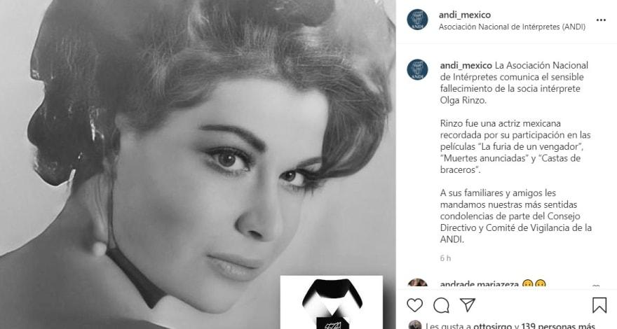 Muere la esposa del actor Polo Ortín, la también actriz Olga Rinzo