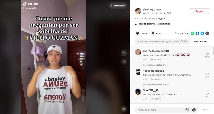 Sobrina Chapo preguntas: Le preguntan sobre su 'tío'