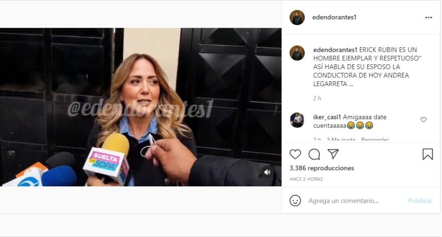 Andrea Legarreta infidelidad: Da la cara