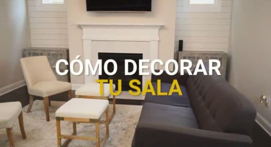 Lo que debes tomar en cuenta a la hora de decorar de tu sala (Video)