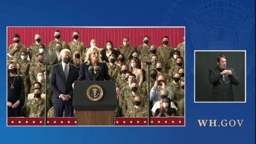 Jill Biden regaña al presidente, Joe Biden