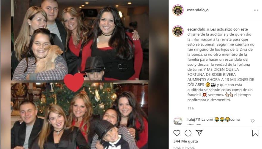 Aseguran que la fortuna de Rosie Rivera ascendió a 13 millones de dólares Jenni Rivera Chiquis