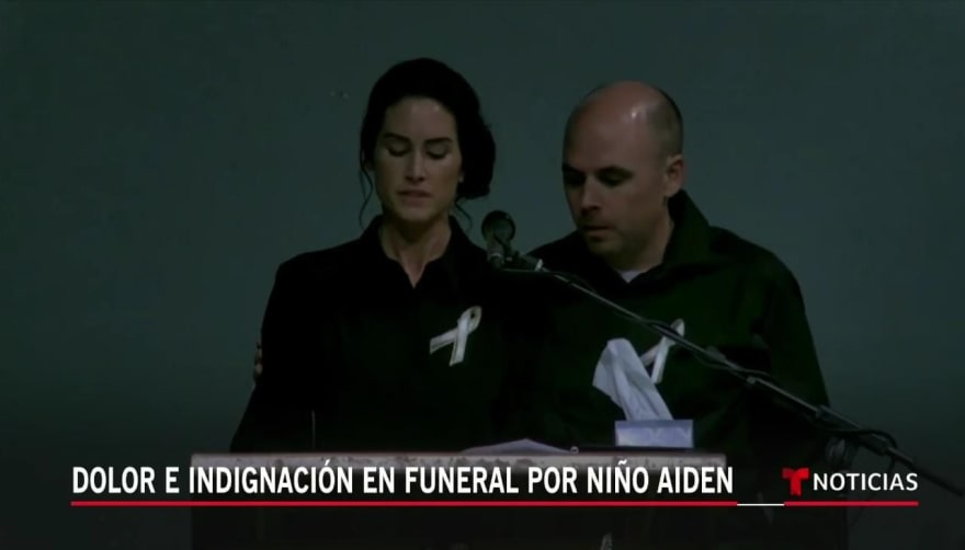funeral niño Aiden Leos