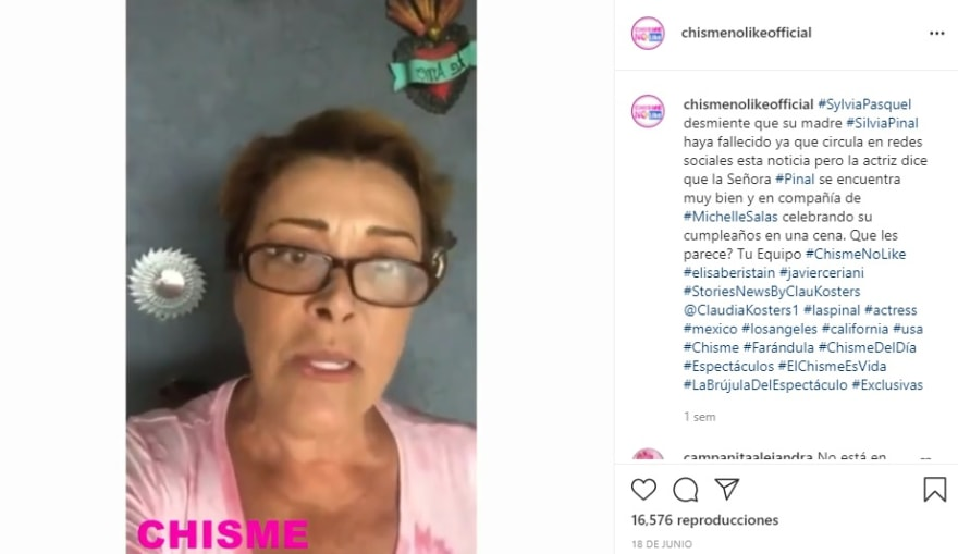 Sylvia Pasquel pedía que no creyeran esas mentiras sobre Silvia Pinal