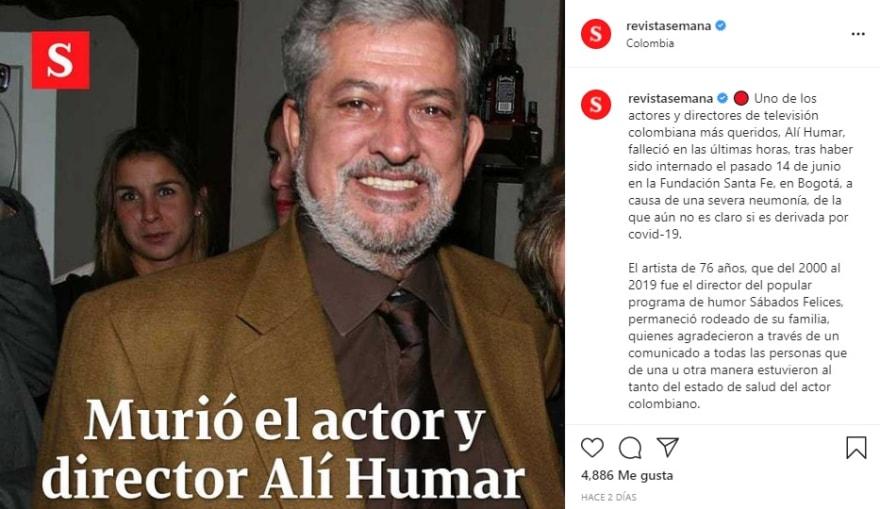Al actor de Telemundo le sobreviven su esposa e hijos