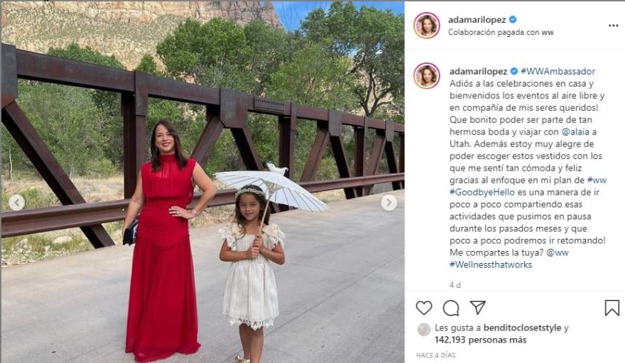 Adamari López humillada por su propia hija en ropa deportiva Alaïa