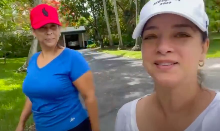 Adamari López entrena con amiga