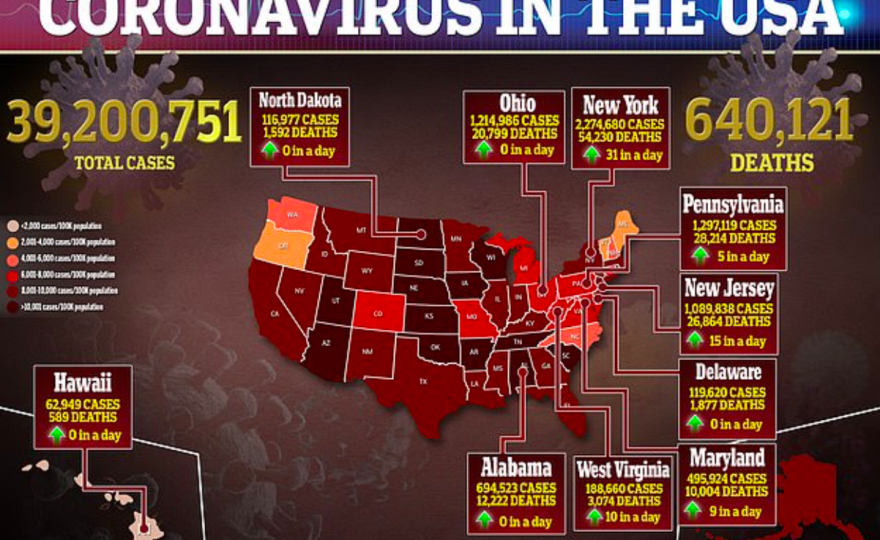 Casos de COVID EEUU