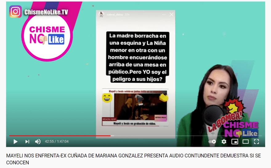 Mayeli Alonso Lupillo Rivera: Se va contra Daisy Cabral