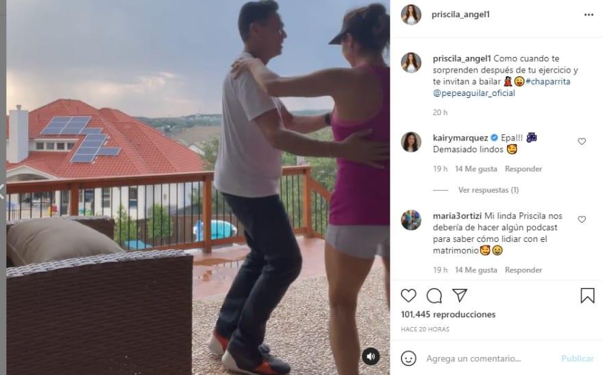Priscila baila: Felices por su matrimonio