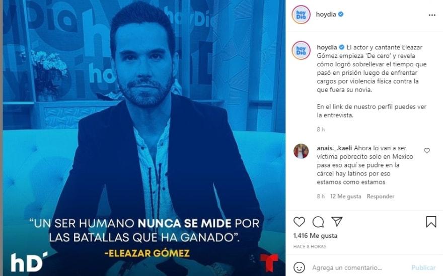 Hoy Día maltrato mujer Eleazar Gómez: Internautas molestos