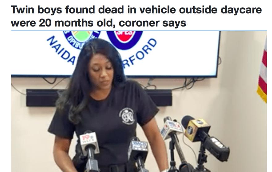 Policía Columbia gemelos muertos vehículo