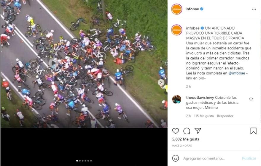 Accidente Tour de Francia: Varios heridos